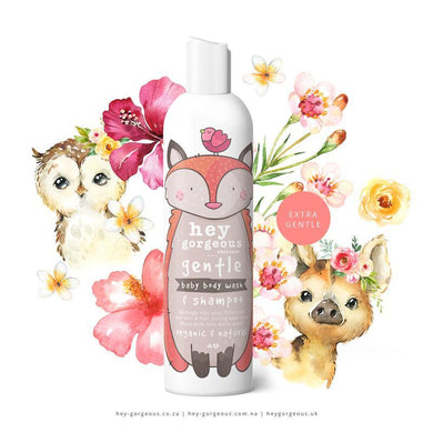 Hey Gorgeous Gentle Baby Body Wash and Shampoo 250ml - Made by Nature