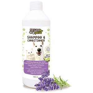 Natura Pets Calming Lavender Shampoo and Conditioner 500ml - Made by Nature