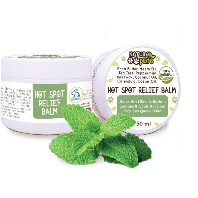 Natura Pets Hot Spot Relief Balm 50ml - Made by Nature