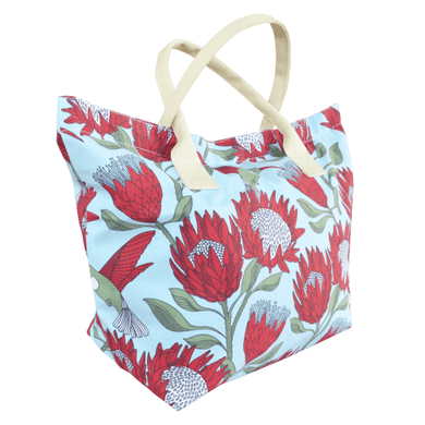 Love Supreme Blue Protea Beach Bag