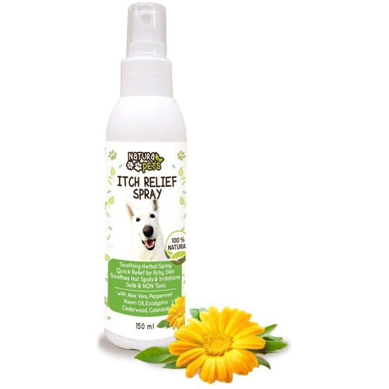Natura Pets Herbal Spray for Itch Relief 150ml - Made by Nature