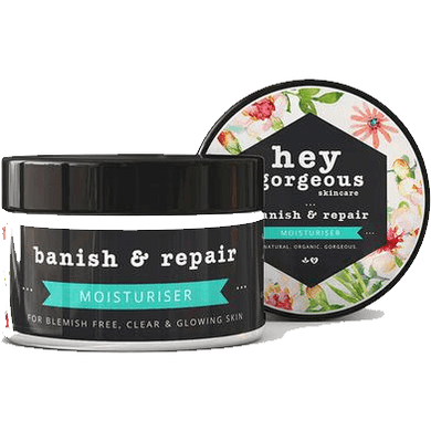 Hey Gorgeous Banish and Repair Moisturiser for blemish free skin 100g (Oily Skin)