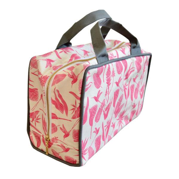 Love Supreme Pink Botanicals on Sand Toiletry Bag