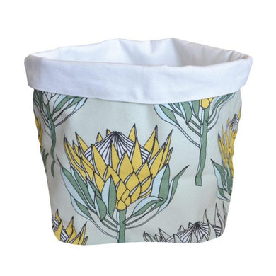 Love Supreme Cotton Yellow Protea Fabric Pot