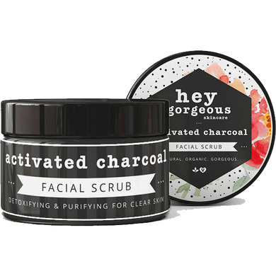 Hey Gorgeous Activated Charcoal Face Scrub