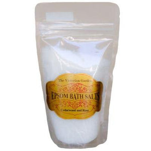 The Victorian Garden Cedarwood and Rose Bath Salts 200g