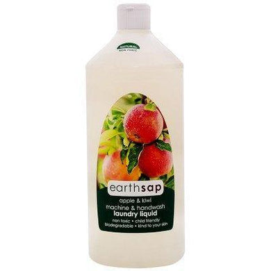Earthsap Apple and Kiwi Machine and Handwash Laundry Liquid 500ml