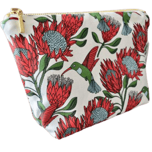 Love Supreme Protea White Makeup Pouch