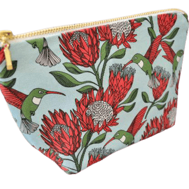 Love Supreme Protea Blue Makeup Pouch