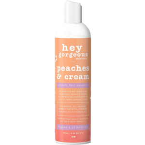 Hey Gorgeous Peaches and Cream Shampoo 250ml (Frizzy or dry hair)