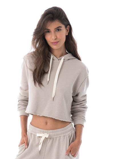 Maaji Holistay Sand Long Sleeve Cropped Hoodie - Maaji Colombia