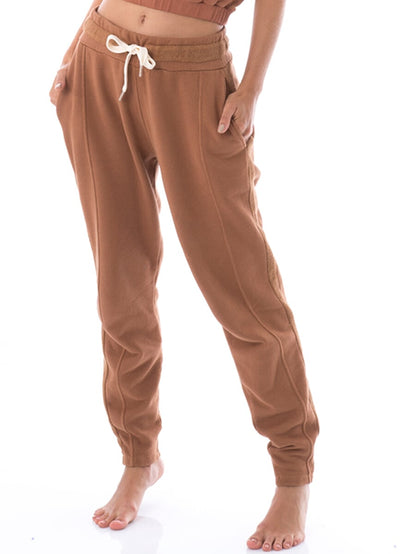 Maaji Steady Caramel Side Panel Jogger - Maaji Colombia