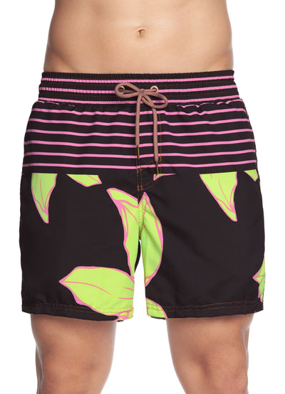 Maaji Flowers and Stripes Men's Swim Trunks - Maaji Colombia