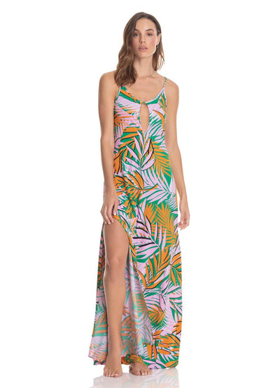 Maaji Magnific Yellowstone Dust Long Dress - Maaji Colombia