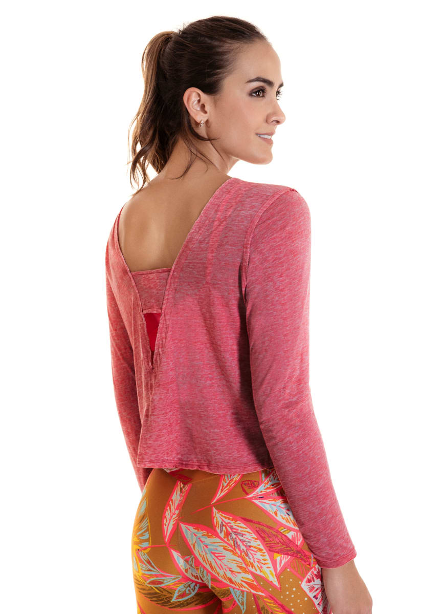 Maaji Reveal Rosewood Long Sleeve Top - Maaji Colombia