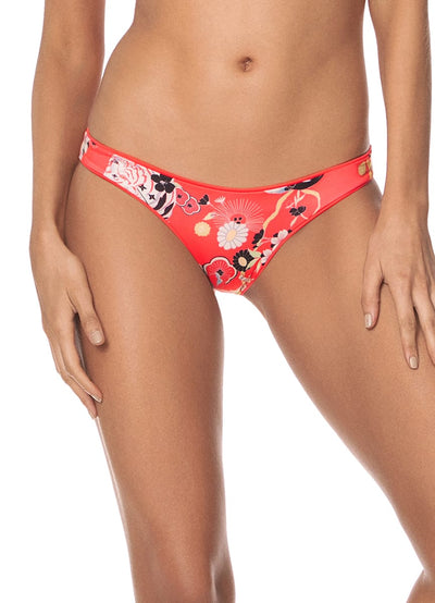 Maaji Desire Red Flirt Thin Side Bikini Bottom - Maaji Colombia