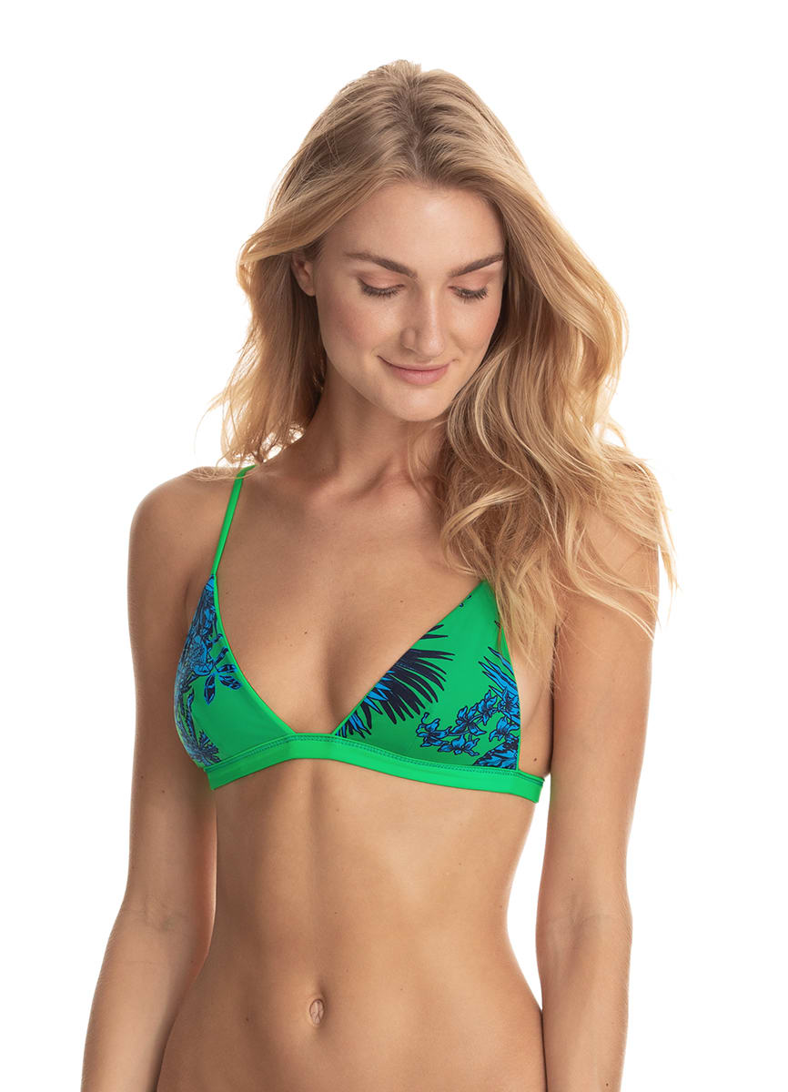 Maaji Lucky Clover Green Elle Triangle Bikini Top