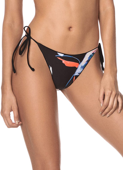 Maaji Ebony Black Isabella Tie Side Bikini Bottom - Maaji Colombia