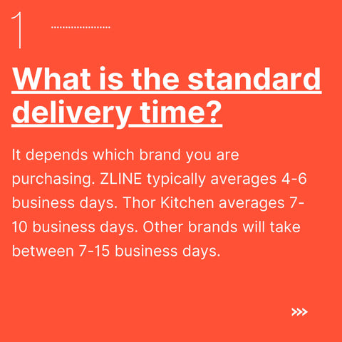 Premium Home Source - Standard Delivery Time