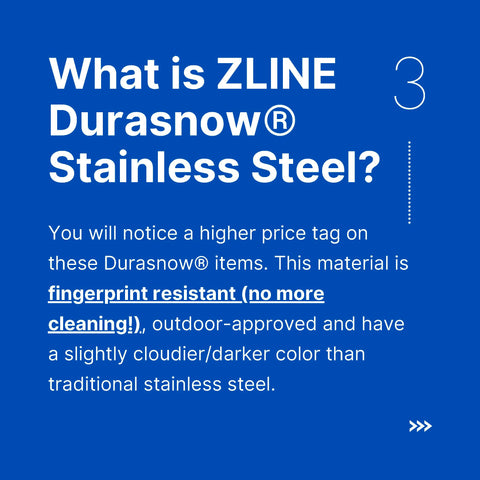 Premium Home Source - What is ZLINE Durasnow Stainless Steel?