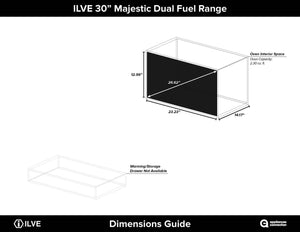 "ILVE 30"" Majestic II Series Natural Gas Burner and Single Electric Oven in Matte Graphite with Chrome Trim, UM30DNE3MGCNG test"