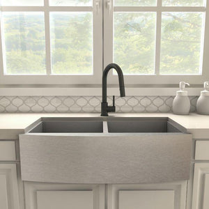 ZLINE Dante Kitchen Faucet in Electric Black Matte, DNT-KF-MB test