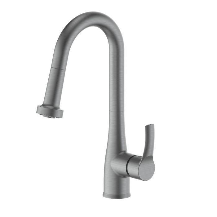 ZLINE Dali Kitchen Faucet in Black Stainless, DAL-KF-GM