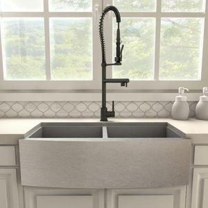 ZLINE Van Gogh Kitchen Faucet in Electric Matte Black, VNG-KF-MB test