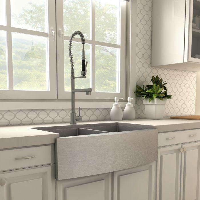 ZLINE Van Gogh Kitchen Faucet in Black Stainless, VNG-KF-GM
