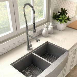 ZLINE Van Gogh Kitchen Faucet in Black Stainless, VNG-KF-GM test