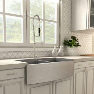 ZLINE Van Gogh Kitchen Faucet in Brushed Nickel, VNG-KF-BN test