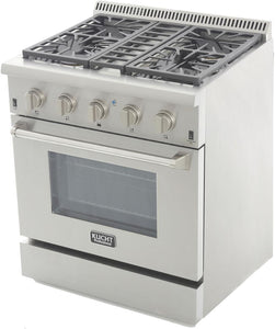 "Kucht Professional 30"" 4.2 cu ft. Natural Gas Range with Silver Knobs, KRG3080U-S test"