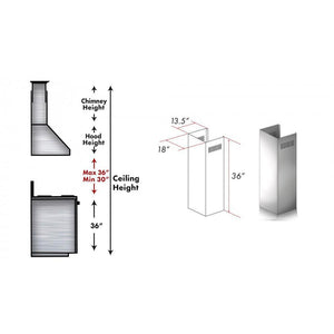 ZLINE 1 Piece Chimney Extension for 10ft Ceiling (1PCEXT-687) test