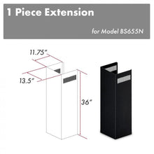 ZLINE 1-36 in. Chimney Extension for 9 ft. to 10 ft. Ceilings (1PCEXT-BS655N)