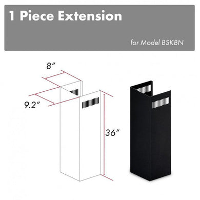 ZLINE 1-36 in. Chimney Extension for 9 ft. to 10 ft. Ceilings in Black Stainless (1PCEXT-BSKBN)