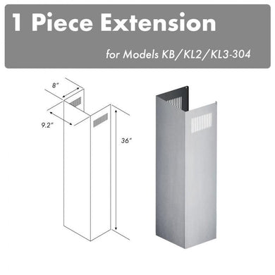 ZLINE 1 Piece Chimney Extension for 10ft Ceiling (1PCEXT-KB/KL2/KL3-304)