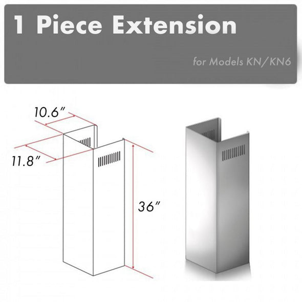 ZLINE 1 Piece Chimney Extension for 10ft Ceilings (1PCEXT-KN)
