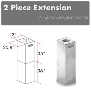 ZLINE 2 Piece Outdoor Chimney Extension for 12ft Ceiling (2PCEXT-697i/KECOMi-304) test