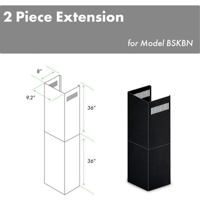ZLINE 2-36 in. Chimney Extensions for 10 ft. to 12 ft. Ceilings in Black Stainless (2PCEXT-BSKBN)