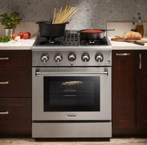 "Thor Kitchen 30"" Propane Gas Burner/Electric Oven Range in Stainless Steel, HRD3088ULP"