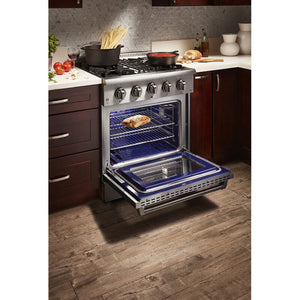 "Thor Kitchen 30"" Natural Gas Burner/Electric Oven Range in Stainless Steel, HRD3088U test"