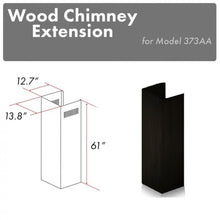 "ZLINE 61"" Wooden Chimney Extension for Ceilings up to 12.5 ft, 373AA-E"