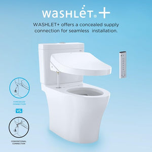 Toto Drake II 1.28 GPF Elongated Two Piece Toilet S300e, MW454574CEFG#01 test