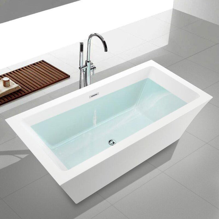 "Vanity Art 59"" x 29.5"" Freestanding Soaking Bathtub, VA6817"