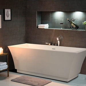 "Vanity Art 59"" x 29.5"" Freestanding Soaking Bathtub, VA6817 test"