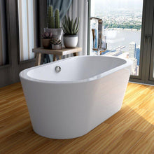 "Vanity Art 59"" x 29.5"" Freestanding Soaking Bathtub, VA6812-S"