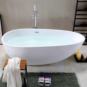 "Vanity Art 59"" x 30"" Freestanding Soaking Bathtub, VA6515 test"