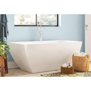 "Vanity Art 59"" x 29.5"" Freestanding Soaking Bathtub, VA6821 test"