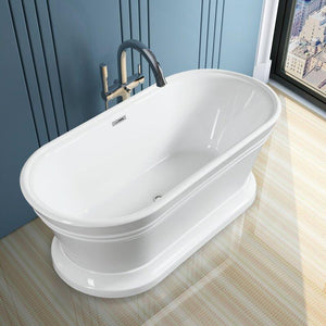 "Vanity Art 67"" x 31"" Freestanding Soaking Bathtub, VA6610-L test"
