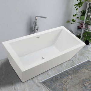 "Vanity Art 59"" x 30"" Freestanding Soaking Bathtub, VA6814 test"